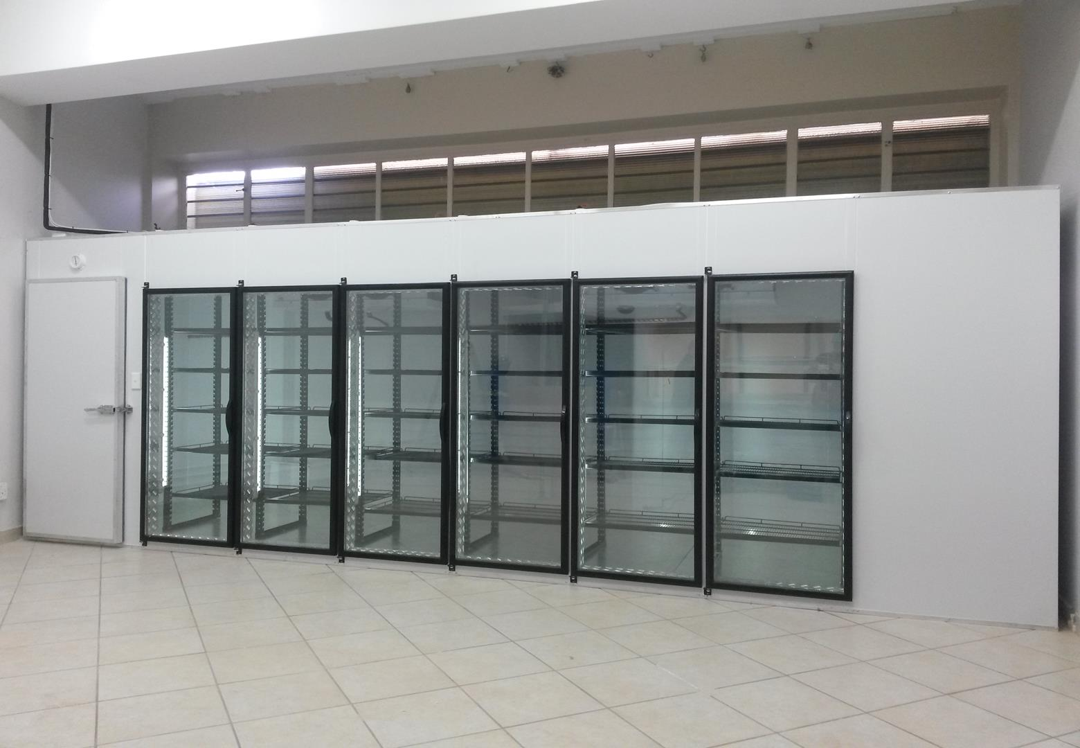 glass door freezer room
